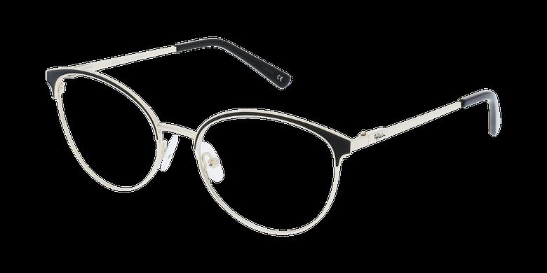 Lunettes de vue femme FAUSTINE noir/doré