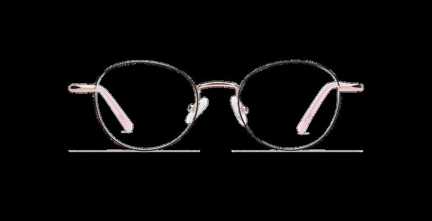 Lunettes de vue femme NELIA noir/rose - Vue de face