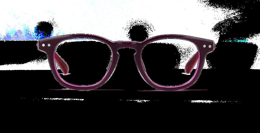 Lunettes de vue enfant SASHA violet/rose - Vue de face