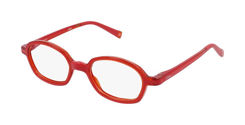 Lunettes de vue enfant RFOM2 rouge/orange - vue de 3/4