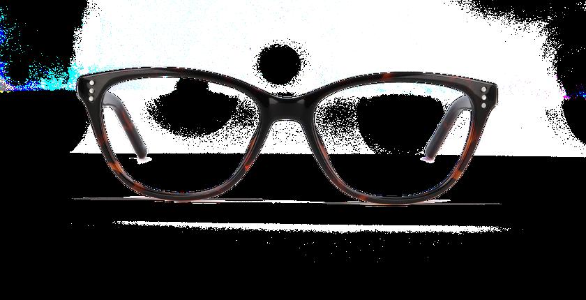 Lunettes de vue femme ANGELINA écaille - Vue de face