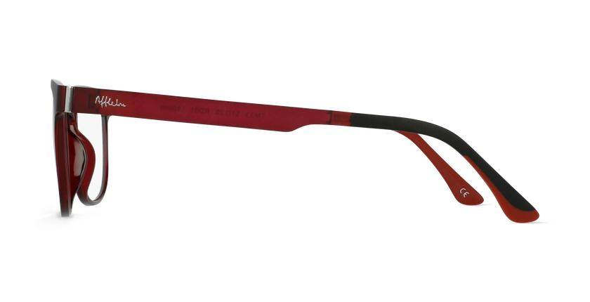 Lunettes de vue homme MAGIC 33 rouge - Vue de côté