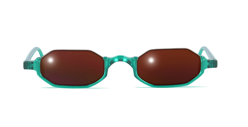 Lunettes de vue FT1S vert - Vue de face