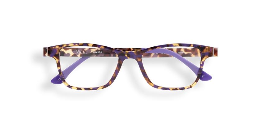 Lunettes de vue femme MAGIC 04 écaille/écaille violet - Vue de face