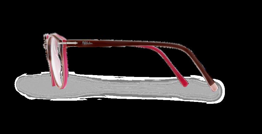 Lunettes de vue femme OYONNAX marron/rose - Vue de côté
