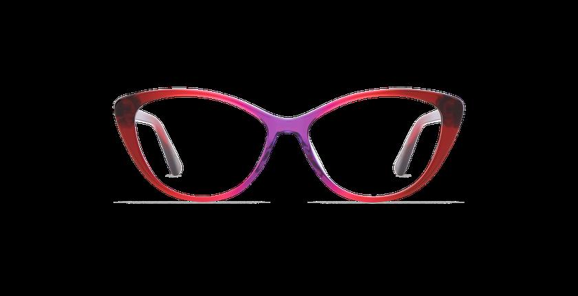 Lunettes de vue femme JUSTINE rouge - Vue de face