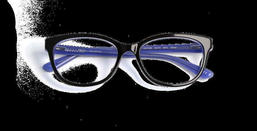 Lunettes de vue femme BETINA noir - Vue de face