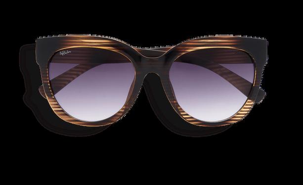 Lunettes de soleil femme TARIFA marron/vert - danio.store.product.image_view_face