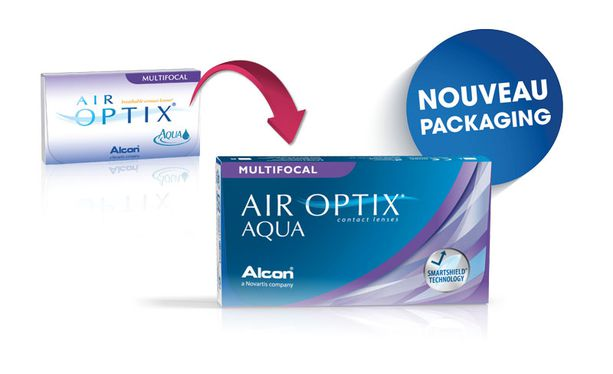 Lentilles de contact Air Optix Aqua Multifocal 6L - Vue de face