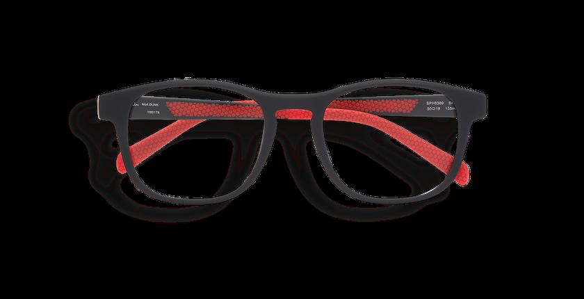 Lunettes de vue DUNK noir/rouge - Vue de face