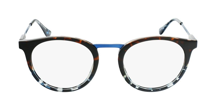 Lunettes de vue CATHERINE écaille/bleu - Vue de face