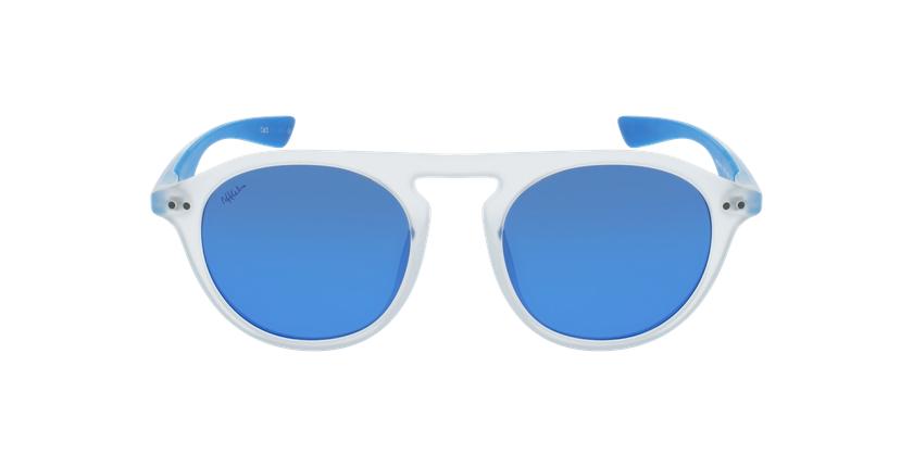 Lunettes de soleil BORNEO POLARIZED blanc/bleu - Vue de face