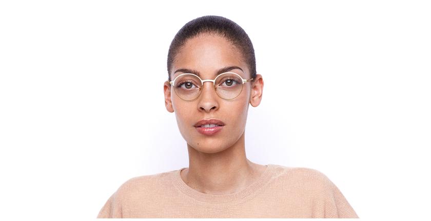 Lunettes de vue femme VENUS blanc/beige - Vue de face
