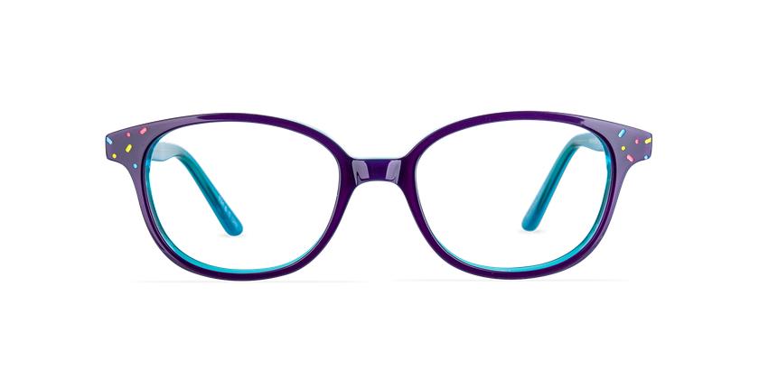 Lunettes de vue enfant FLUFFY2 violet/bleu - Vue de face