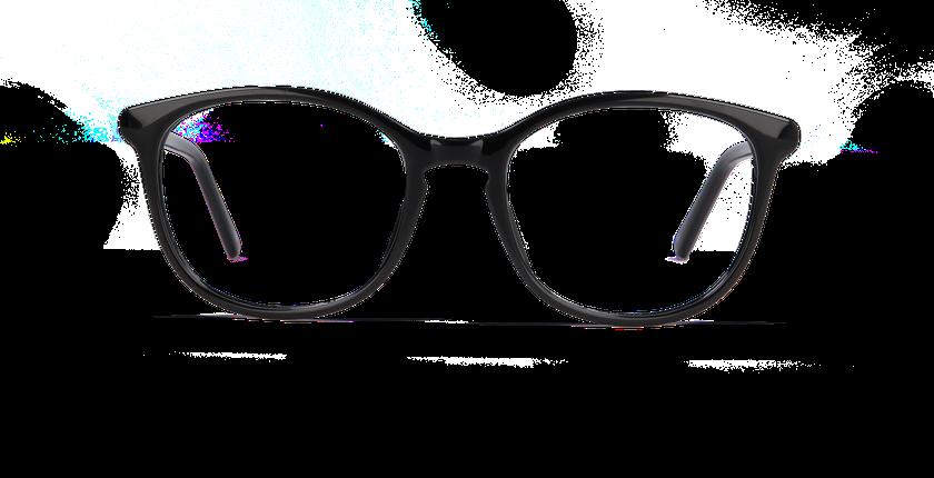 Lunettes de vue femme PAULINE noir - Vue de face