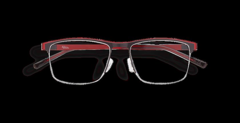 Lunettes de vue homme ALPHA16 gris/rouge - Vue de face