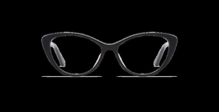 Lunettes de vue femme JUSTINE noir - Vue de face