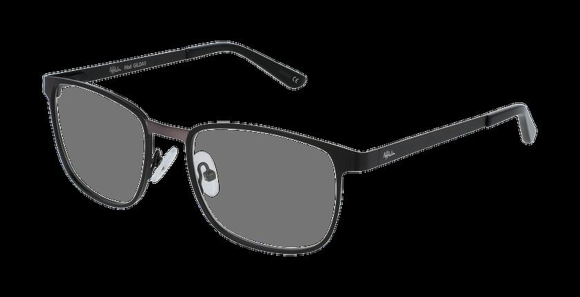Lunettes de vue homme GILDAS noir/gris - vue de 3/4