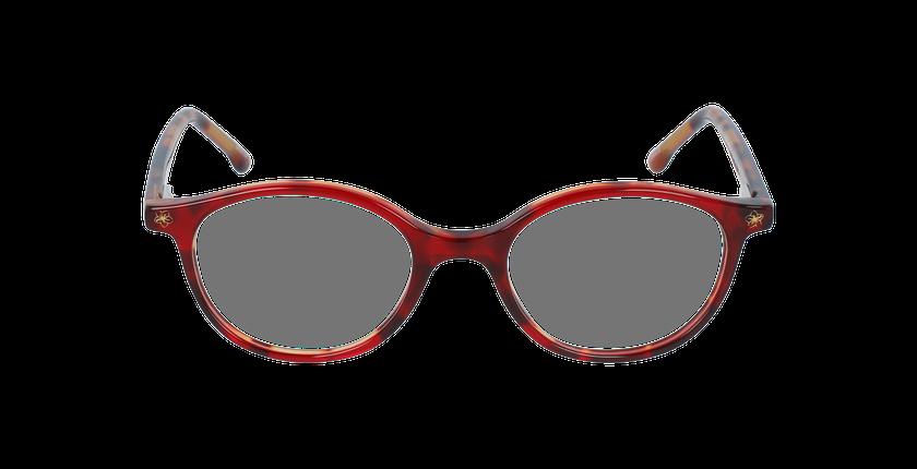 Lunettes de vue enfant DANCE rouge/écaille - Vue de face