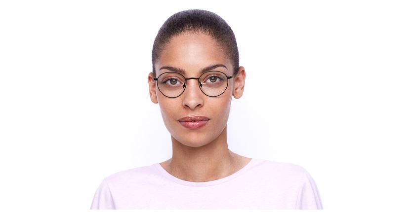 Lunettes de vue femme RZERO8 noir - Vue de face