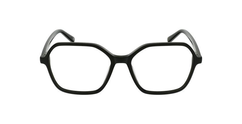 Lunettes de vue femme GARANCE noir - Vue de face
