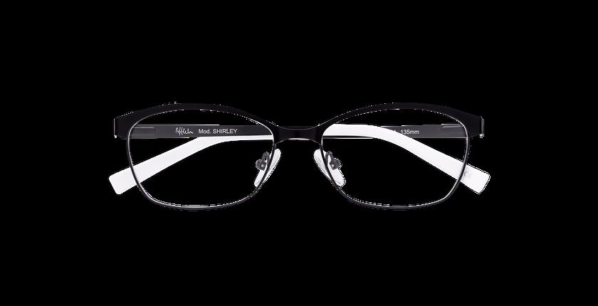 Lunettes de vue femme SHIRLEY noir - Vue de face