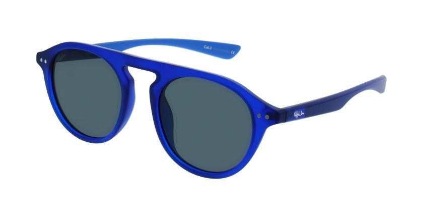 Lunettes de soleil BORNEO POLARIZED bleu/bleu - vue de 3/4