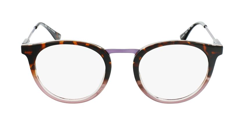 Lunettes de vue CATHERINE écaille/violet - Vue de face