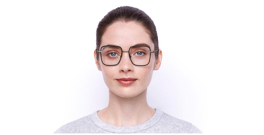 Lunettes de vue femme MARC 477 écaille/doré - Vue de face