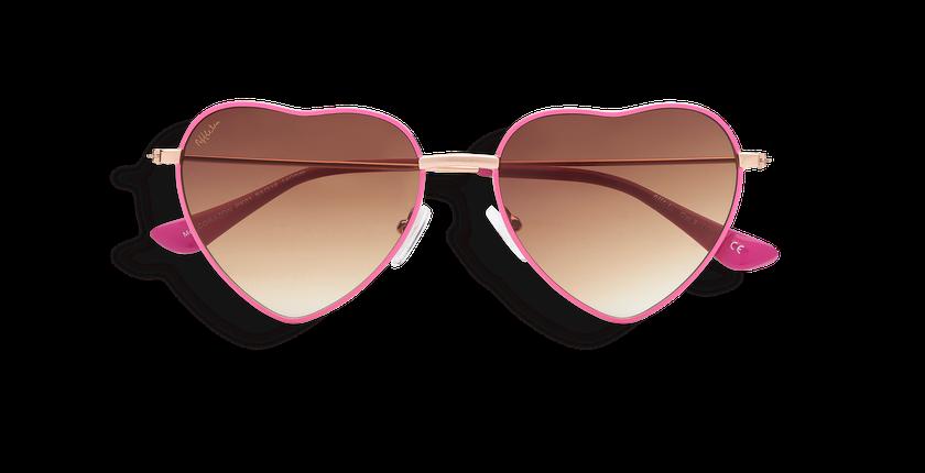 Lunettes de soleil femme CORAZON rose - Vue de face