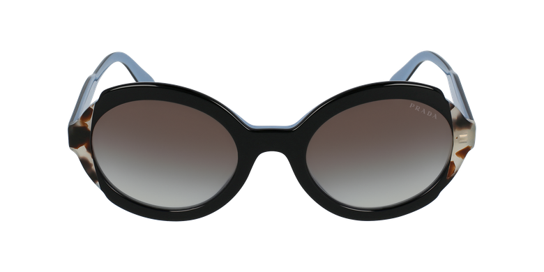Lunettes de soleil femme HERITAGE noir/écailleVue de face