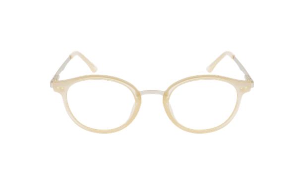 Lunettes de vue femme MAGIC 97 beige/doré - Vue de face