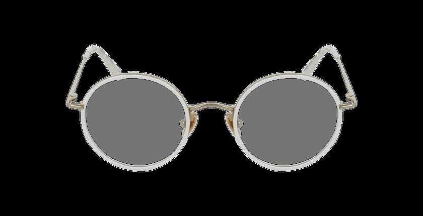 Lunettes de vue CHOPIN doré/blanc - Vue de face