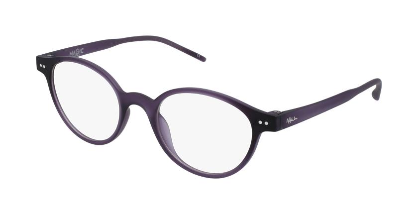 Lunettes de vue femme MAGIC 49 violet - vue de 3/4