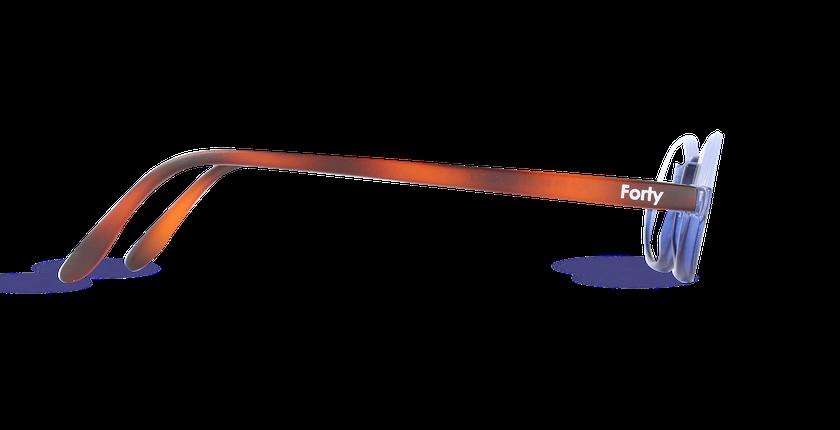 Lunettes de vue FO1 bleu - Vue de côté