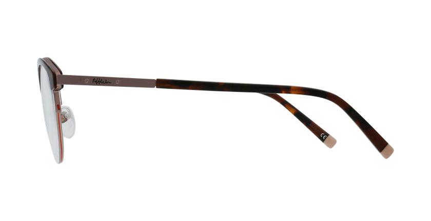 Lunettes de vue femme STRAUSS écaille/doré - Vue de côté