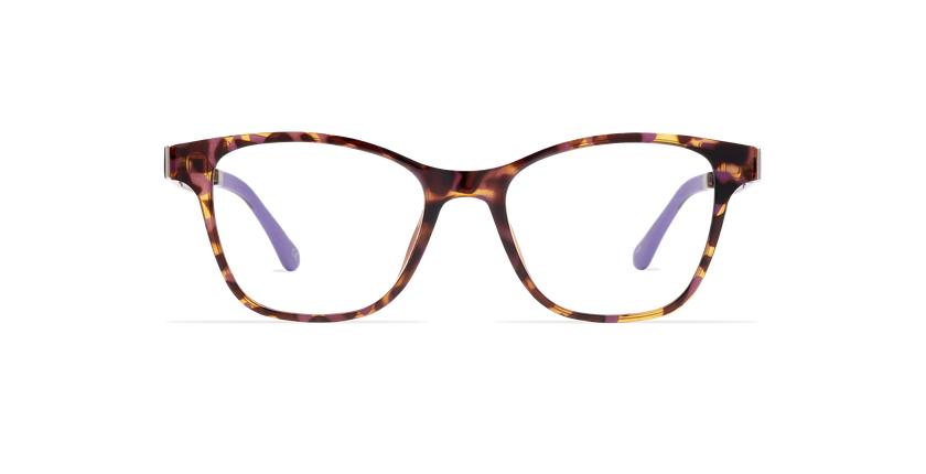 Lunettes de vue femme MAGIC 17 écaille/écaille violet - Vue de face