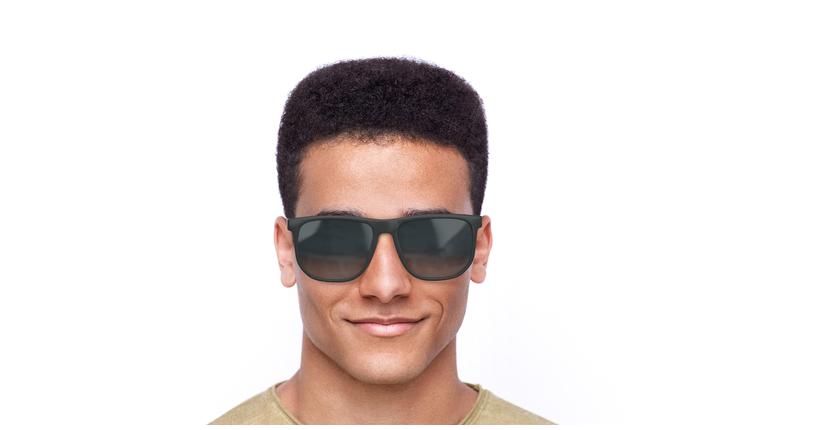 Lunettes de soleil homme L922S noir - Vue de face