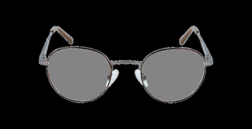 Lunettes de vue homme MARIN écaille/gris - Vue de face