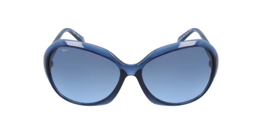 Lunettes de soleil femme LARA bleu - Vue de face