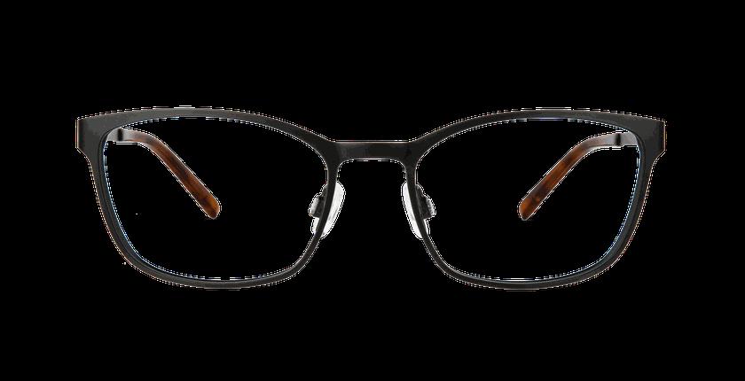 Lunettes de vue femme ALPHA5 noir - Vue de face