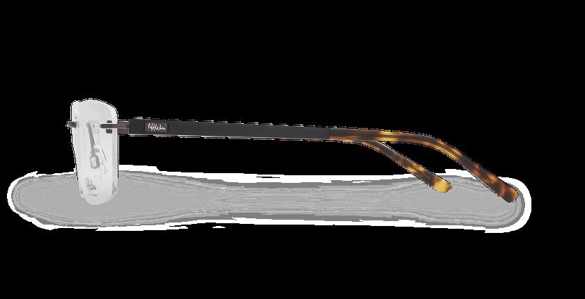 Lunettes de vue homme ALPHA10 marron - Vue de côté