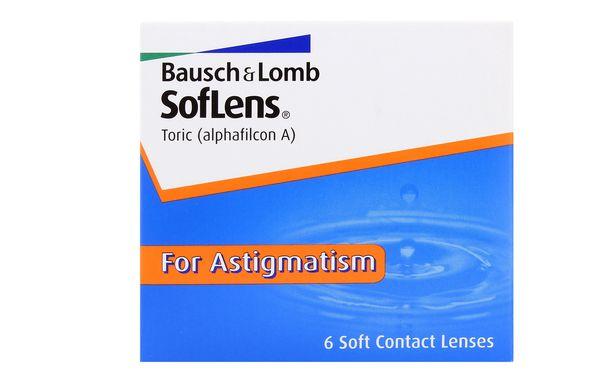 Lentilles de contact SofLens 66 Toric 6L - Vue de face