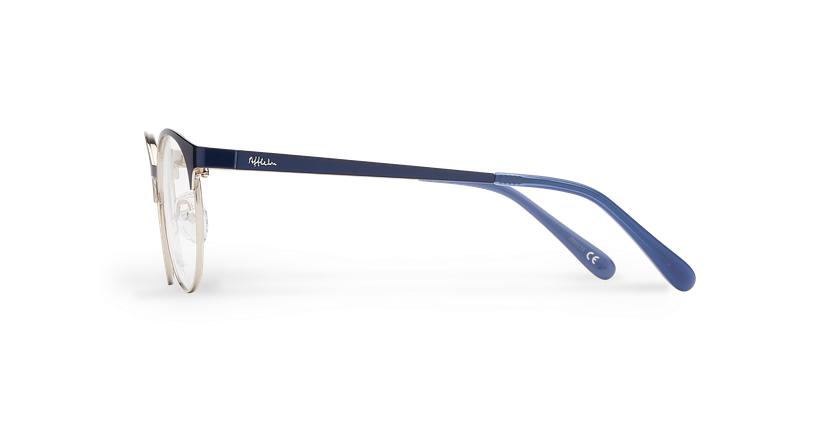 Lunettes de vue enfant AYLA bleu/argenté - Vue de côté