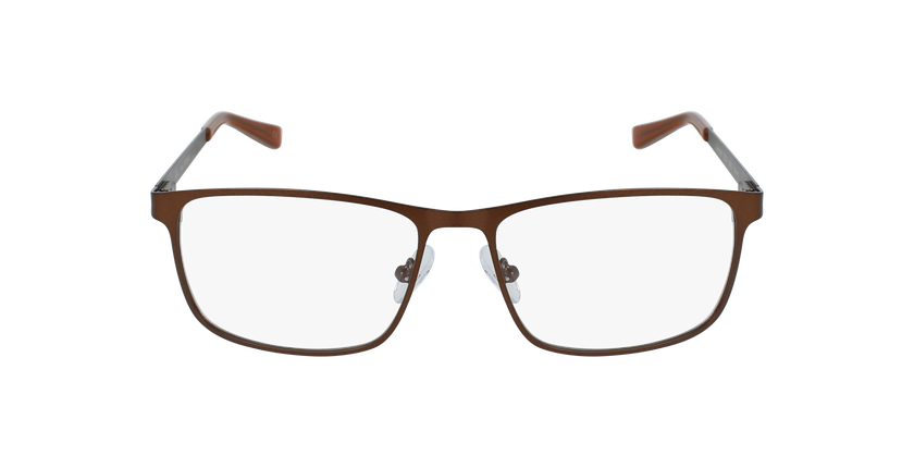 Lunettes de vue homme GERMAIN marron - Vue de face