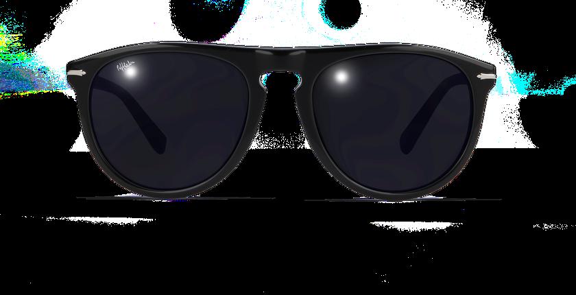 Lunettes de soleil homme LUIGI noir - Vue de face