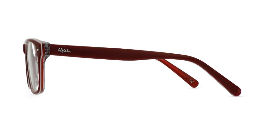 Lunettes de vue enfant TED rouge/blanc - Vue de côté