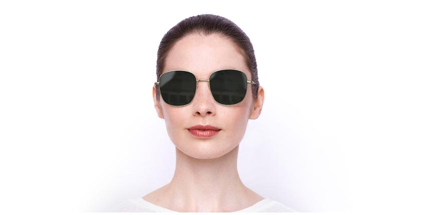 Lunettes de soleil femme 0BA5010S DO10 56GU doré - Vue de face