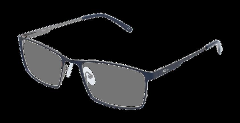Lunettes de vue homme CEDRIC bleu/gris - vue de 3/4