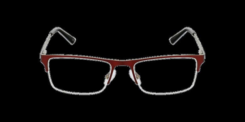 Lunettes de vue homme RONALD rouge/argenté